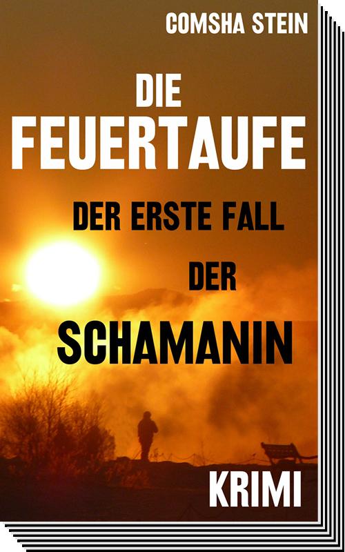 """Comsha Stein – """"Die Feuertaufe"""" Buchtitel"""